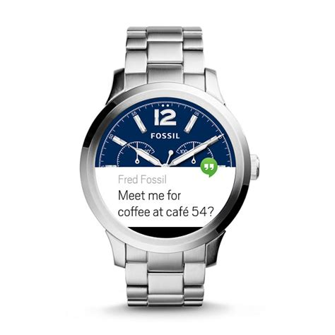 Smartwatch Fossil Q Founder 1 fossil q founder touchscreen stainless steel smartwatch