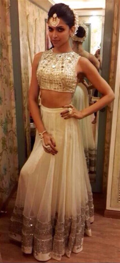 indian hairstyles on evening gowns deepika padukone in a white lengha and blouse love the