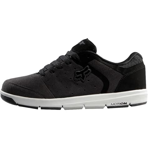 fox sneakers fox racing motion atmis shoes black grey sneakers trainers