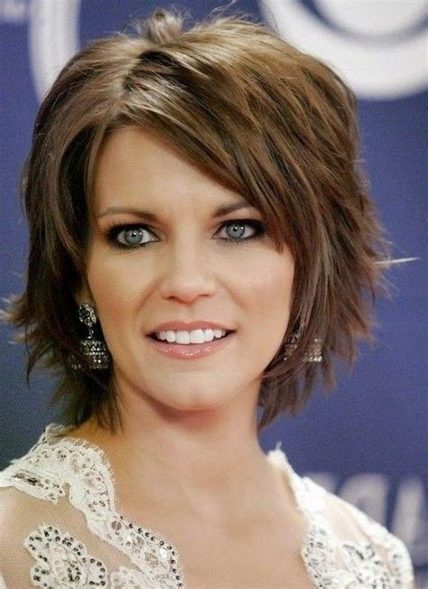 chin length layered bob with side bangs choppy medium length hairstyles 2017 2018 best cars