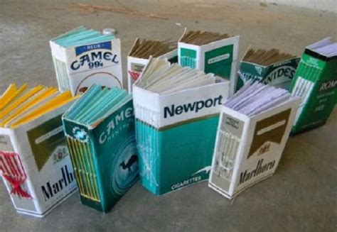 How To Make A Cigarette Box Out Of Paper - 45 artwork made from cigarette boxes you need to