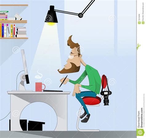 layout artist internship digital art painter at work cartoon vector