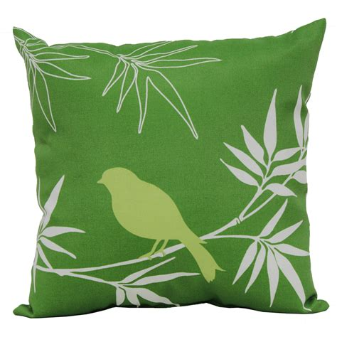 Outdoor Pillows Lowes by Shop Garden Treasures Green Uv Protected Square Outdoor