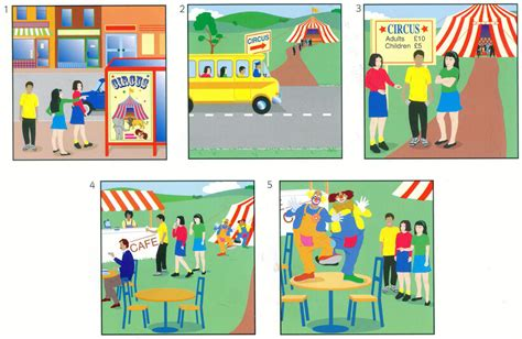 three stories yle flyers speaking part 3 sample picture cards карточки