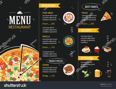 flat design menu exles vector restaurant cafe menu template flat stock vector