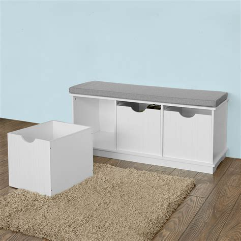 hallway storage bench uk sobuy 174 storage bench shoe cabinet hallway seat with