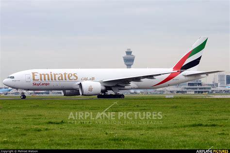 emirates cargo a6 efs emirates sky cargo boeing 777f at amsterdam