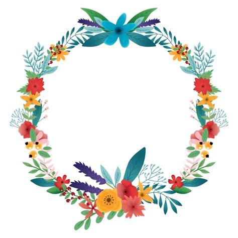 new year flower colors flower wreath clipart sportekevents