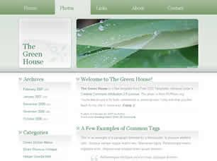 the green house free website template free css templates