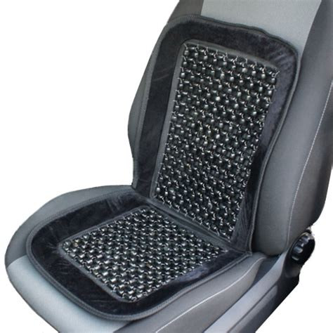 bead seats black wooden bead beaded massaging front seat cover