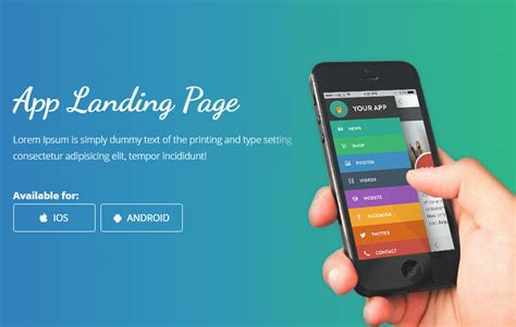 free web mobile smartnet mobile app landing page bootstrap web template