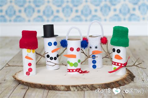 Snowman Toilet Paper Roll Craft - toilet paper roll snowmen family crafts