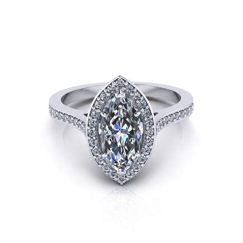 marquise halo engagement ring jewelry designs