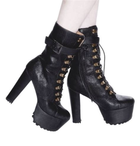 combat high heel boots shoes lace up heels lace up high heels lace up ankle