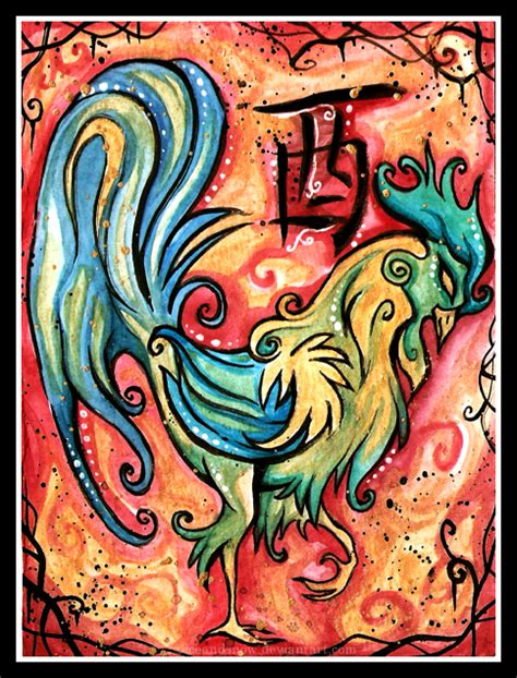 chinese zodiac rooster by iceandsnow on deviantart