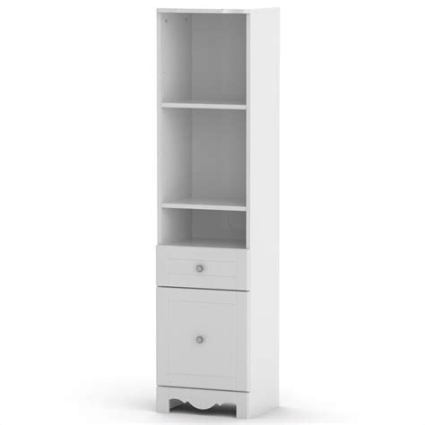 Pixel Tall Bookcase Tower In White 314303 White Tower Bookcase