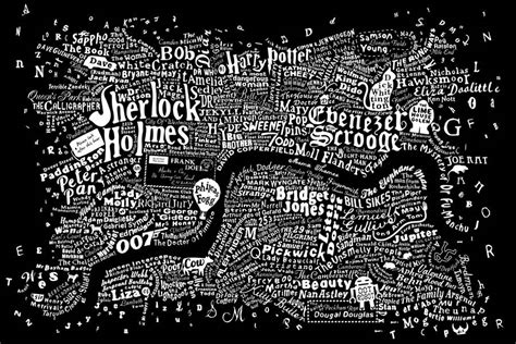 literary london a street 0141026243 literary central london map art print by run for the hills notonthehighstreet com