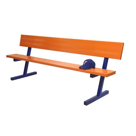 aluminum sport benches powder coated benches wbackrests aluminum player benches