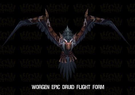 Druid In Flight cho gall corrupted worgen epic druid flight form vicious