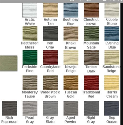 hardy board hardie board color chart great outdoors