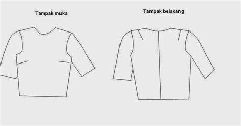 cara membuat pola baju jas membuat pola dasar blus danitailor