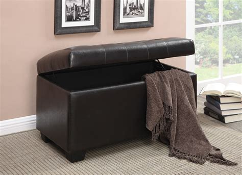dark brown storage ottoman 500948 dark brown storage ottoman from coaster 500948