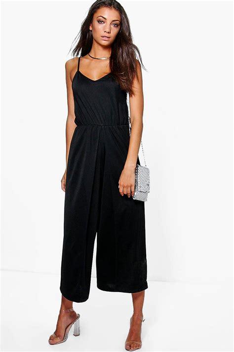 Boohoo Gift Card Australia - boohoo womens tall sadie wrap split leg strappy culotte jumpsuit ebay