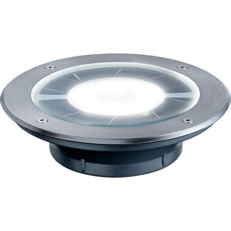 Solar Flush Mount Light 0 36 W Warm White Paulmann Pandora Solar Recessed Lights