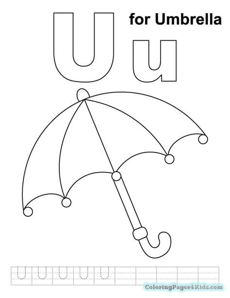 alphabet coloring pages letter u coloring pages for kids