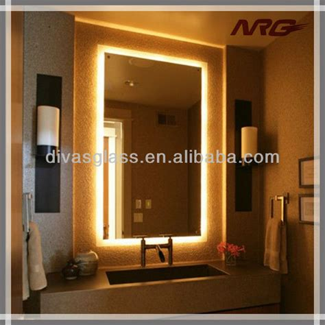 Bathroom Mirror Light Up Bathroom Makeup Mirror With Led Light View Makeup Mirror