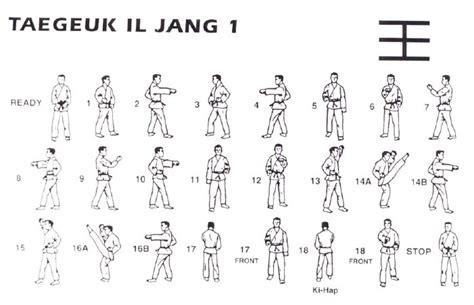 pattern for yellow belt in taekwondo taegeuk forms