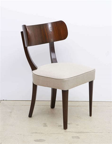 mahogany klismos dining chairs by widdicomb at 1stdibs