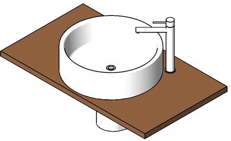 hanging tablel with sink in autocad drawing bibliocad
