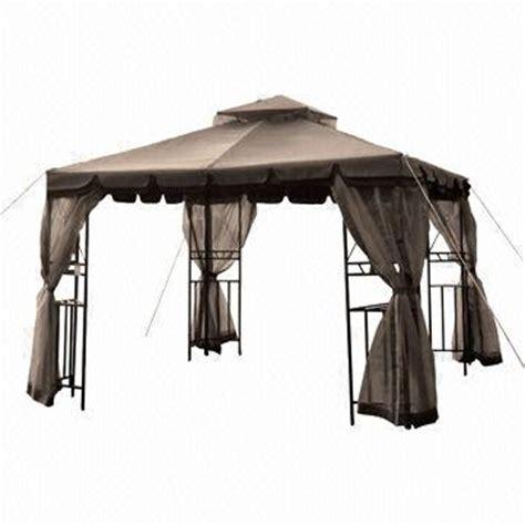 gazebo heavy duty 10 x 10ft heavy duty gazebo with 2 tier roof corner