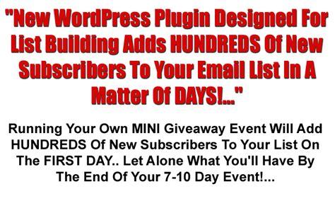 Internet Marketing Giveaway Events - wpgiveaway advanced professionalwpplugins com