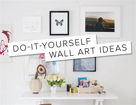 how to do wall painting designs yourself 7 diy wall art ideas domino