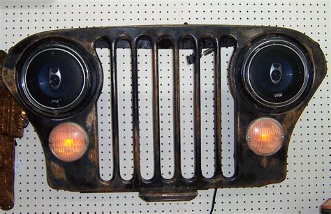 jeep wall a resale jeep grill wall display with speakers