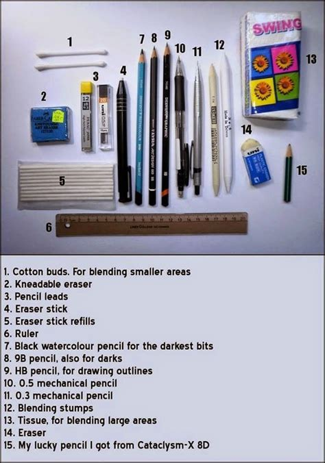 6 Drawing Tools by What Drawing Tools And Materials Do You Need Learn To