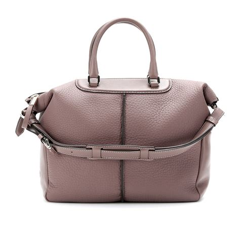 Tods Miky Media Bag by Tod S Classic Miky Bauletto Medium Leather Tote In Brown