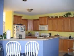 blue yellow kitchen