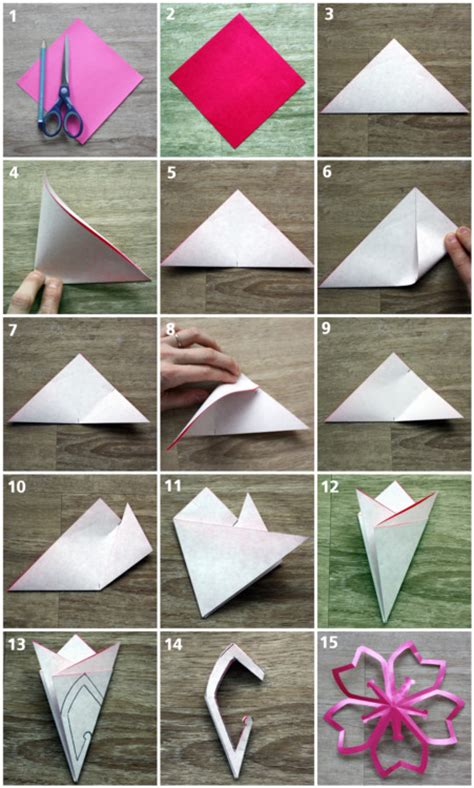 How To Make Cherry Blossoms Out Of Paper - diy paper cherry blossoms the the fox