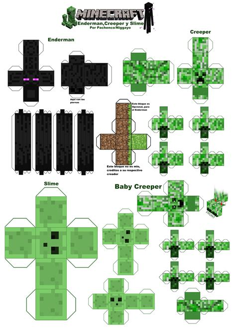 Minecraft Printable Paper Crafts - minecraft papercraft por niggayo by niggayo on deviantart