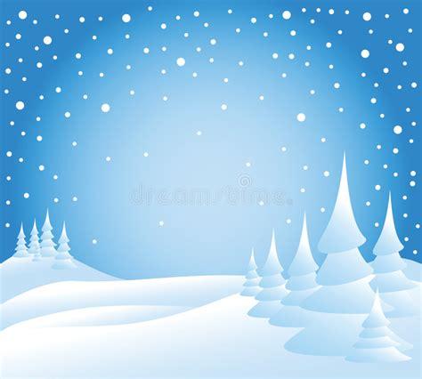 clipart neve neve cade sugli alberi illustrazione vettoriale
