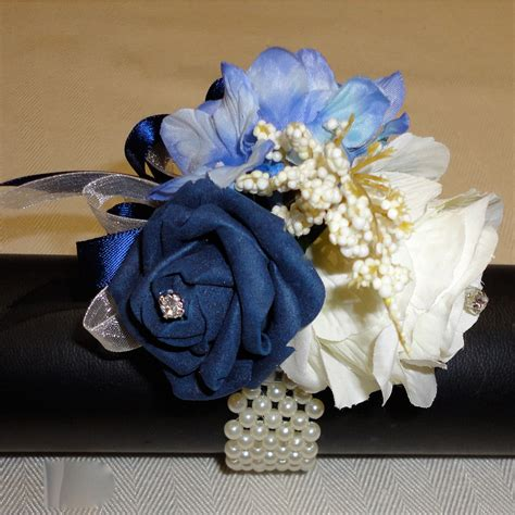 navy blue corsage the floral touch uk wrist corsages prom corsage wrist corsage for proms