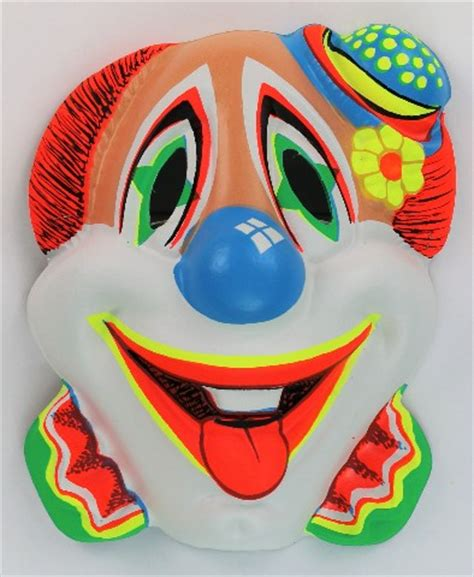 vintage clown halloween mask zest bars   black