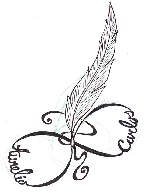infinity symbol with feather black feather infinity on back shoulder