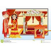Indian Wedding Couple Stock Vector Illustration Of