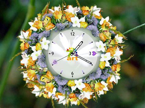 flower clock themes software themes wallpaper 7art white flower clock screensaver