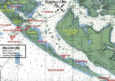 shell island panama city florida map and info blue