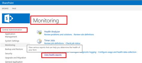 chanaka s view health usage reports in sharepoint 2013